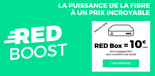 forfait internet fixe red promo