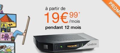 L'offre ADSL Orange à moins de 20€/mois!