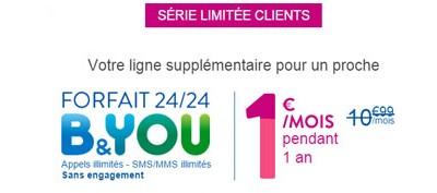 Un forfait mobile offert en série limitée pour un forfait acheté chez B and YOU!