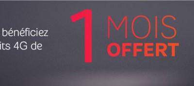 1 mois offert sur les forfaits mobiles SFR souscrits en ligne cet été!