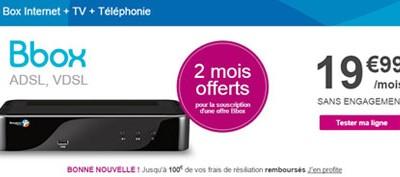 Derniers jours: 2 mois offerts sur les offres internet Bouygues Telecom!