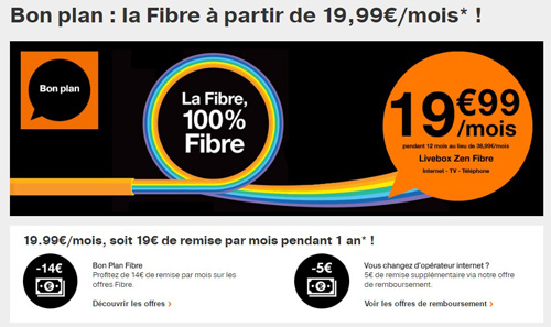 la fibre orange est actuellement en promotion moins de 20 mois. Black Bedroom Furniture Sets. Home Design Ideas