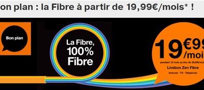 La fibre Orange est actuellement en promotion à moins de 20€/mois!