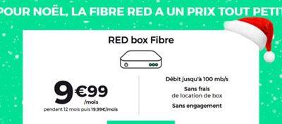 Les offres VDSL et fibre à moins de 10€ chez RED pour Noël (séries limitées)