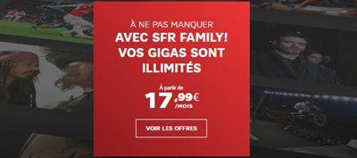SFR lance un forfait 4G illimité à partir de 17,99€/mois (clients SFR Family)