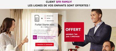Le forfait Starter Mini 100 Mo offert avec SFR Family jusqu'au 27 mars