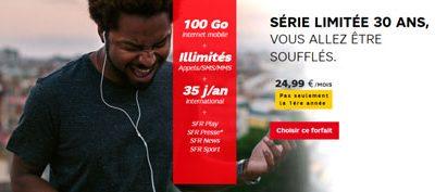 Deux forfaits internet (fixe et mobile) en édition limitée chez SFR