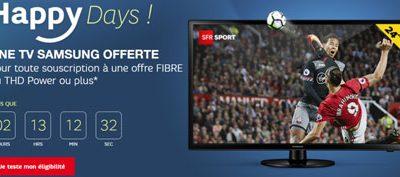 Une TV Samsung offerte aux nouveaux abonnés SFR THD (jusqu'au 18/07)
