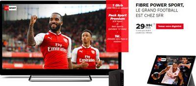 SFR lance deux nouveaux forfaits internet : Power Sport et Power Cinéma