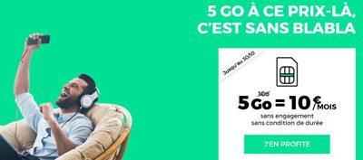 Le forfait mobile RED 5Go à 10€/mois à vie jusqu'au 30 octobre