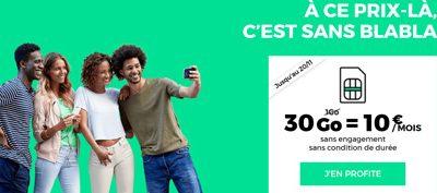 Forfait RED 30 Go à 10€ (sans engagement) : derniers jours de promotion